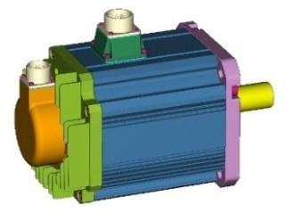 ACサーボモータの3D-CADデータ
