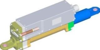 航空機の離着陸装置(ランディング・ギヤ)用アクチュエータの3D-CADデータ